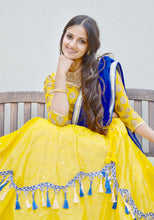 Load image into Gallery viewer, Golden Avatar-Gopi Skirt Lehenga
