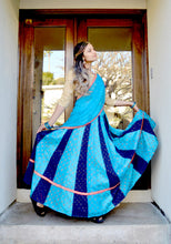 Load image into Gallery viewer, Mystical Blue - Gopi Skirt Outfit