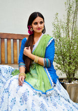 Load image into Gallery viewer, Jade and Aqua With Frills - Gopi Skirt Outfit RESERVED