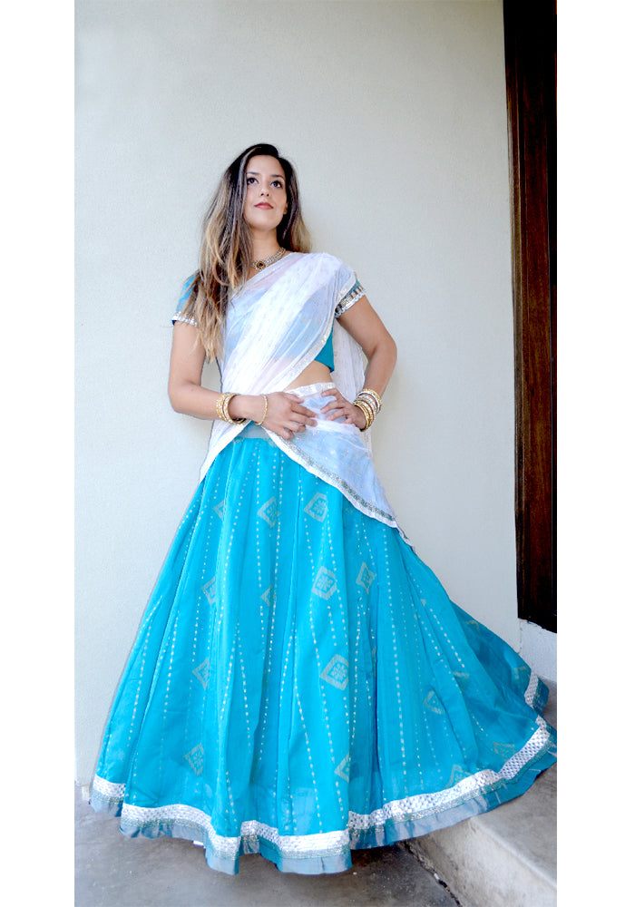 Floating in the Sky - Gopi Skirt Lehenga