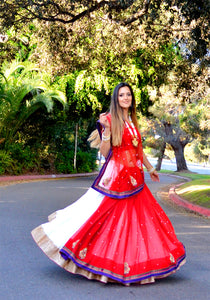 Every step is a Dancing - Saree Lehenga