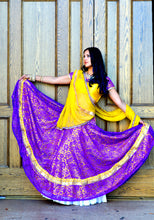 Load image into Gallery viewer, Lavender Field-Gopi Skirt Lehenga