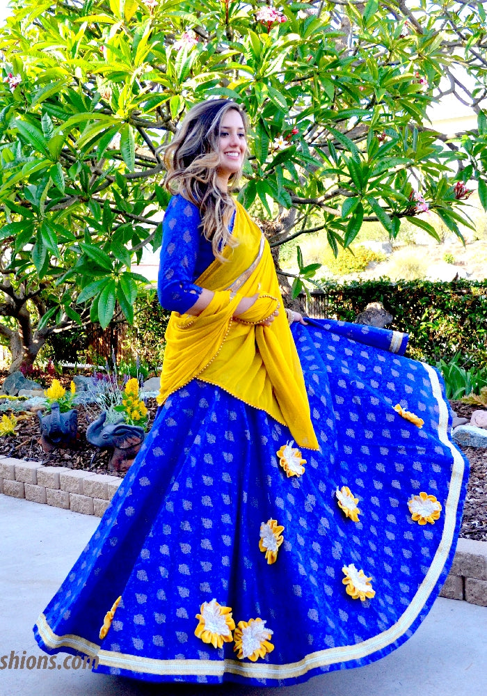 Starry Night - Gopi Skirt Lehenga