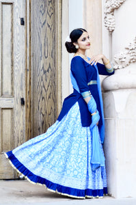 Cool Summer Sky-Gopi Skirt Lehenga