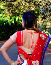Load image into Gallery viewer, Every step is a Dancing - Saree Lehenga
