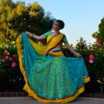Tropical Sunrise - Gopi Skirt Saree