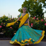 Load image into Gallery viewer, Tropical Sunrise - Gopi Skirt Saree