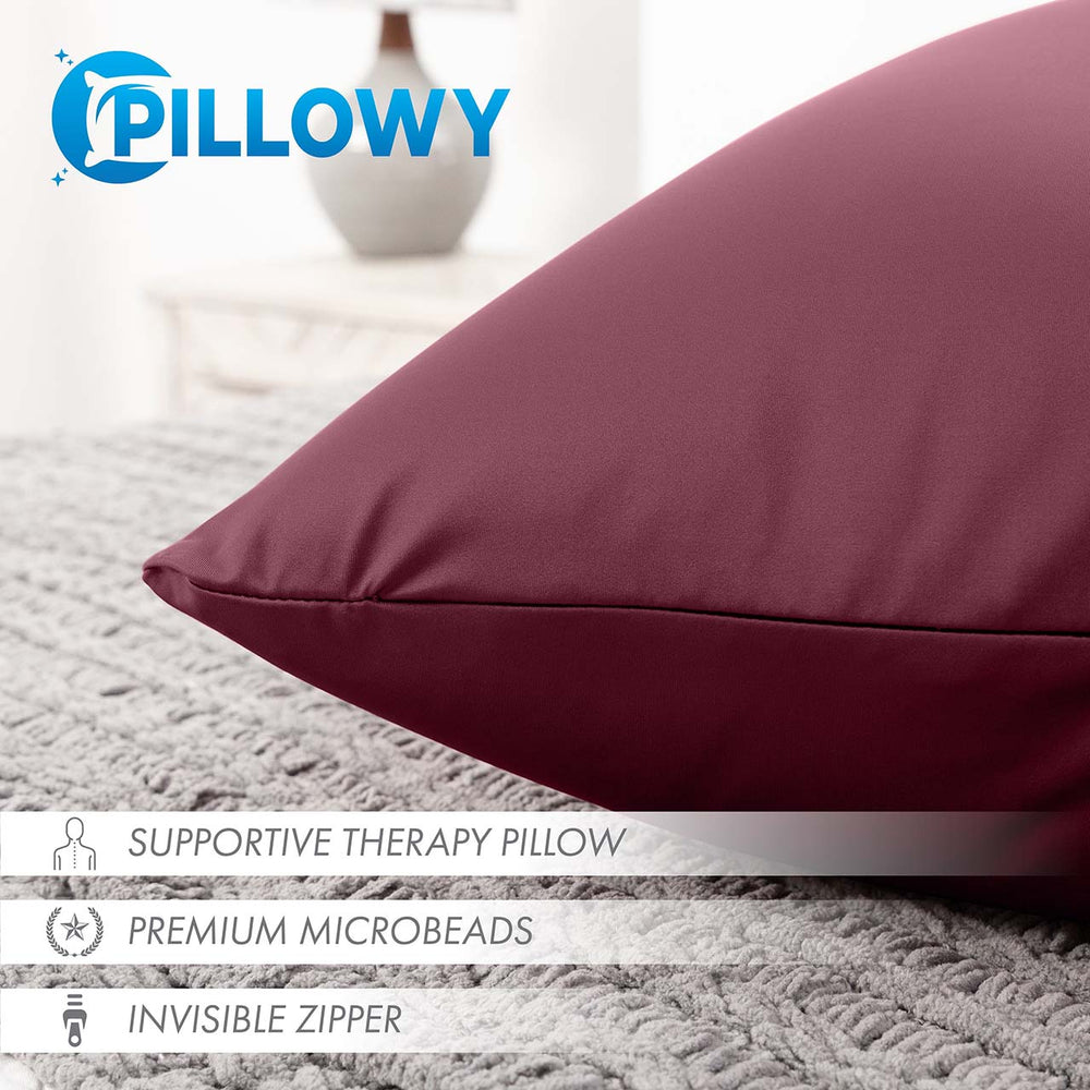 Pillow & Cover / Burgundy - Merlot