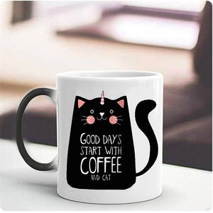 Creative Color Change Unicorn Cat Mugs - Peanutbutter's Closet