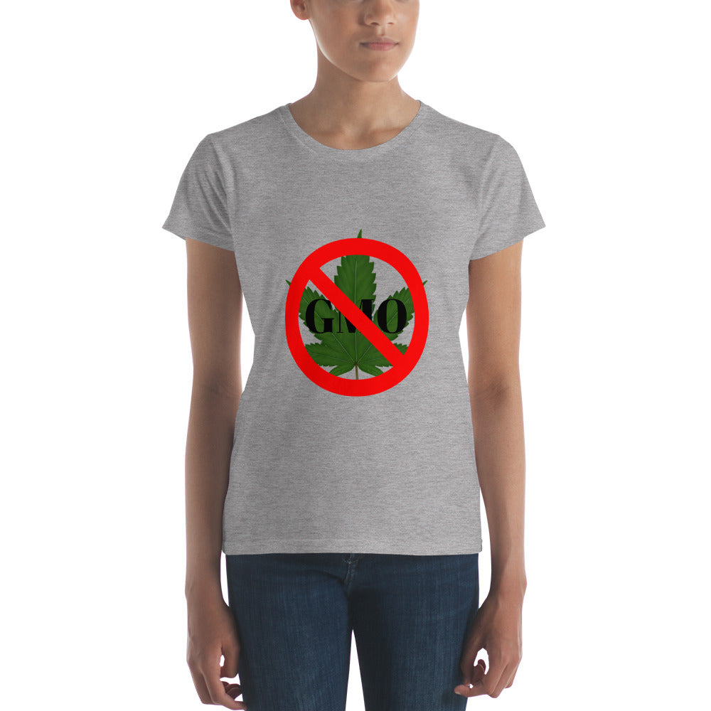 Keep weed GMO Free! Women's short sleeve t-shirt