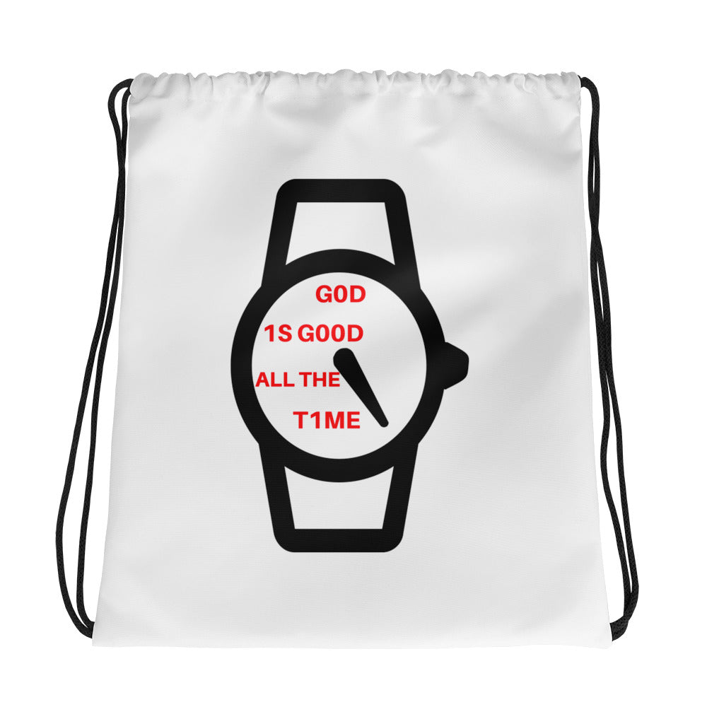 God is Good All the Time Drawstring bag