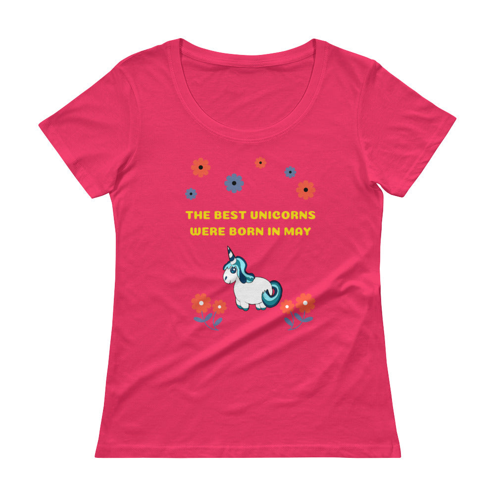 The Best Unicorns Were Born In May Ladies' Scoopneck T-Shirt
