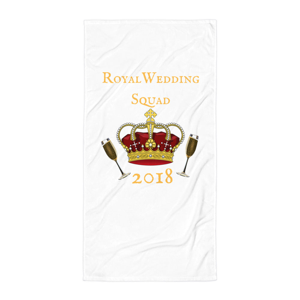 Royal Wedding Champagne Squad 2018 Beach Towel - Peanutbutter's Closet