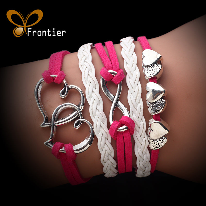 Leather Double Infinite Bracelets