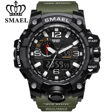 SMAEL Dual Display Waterproof Military Watch