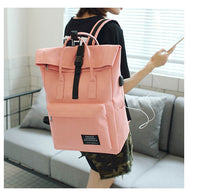 Womens External USB Charge Backpack - Peanutbutter's Closet