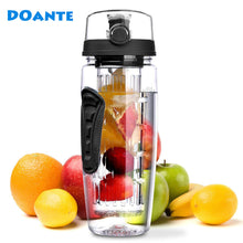 DOANTE 32oz 900ml BPA Free Fruit Infuser Juice Shaker Sports Lemon Water Bottle - Peanutbutter's Closet