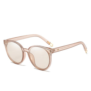 2018 Women Colour Luxury Flat Top Cat Eye Sunglasses - Peanutbutter's Closet