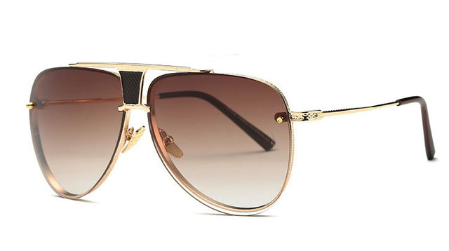 High-Quality Square Luxury Gradient Lens Sunglasses - Peanutbutter's Closet