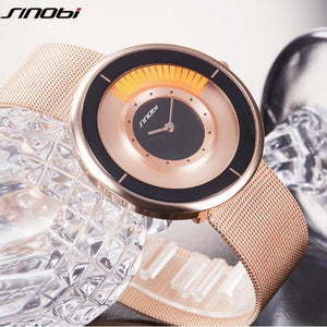 SINOBI Unique Rotating Luxury Ultra-Thin Stainless Steel Watch - Peanutbutter's Closet