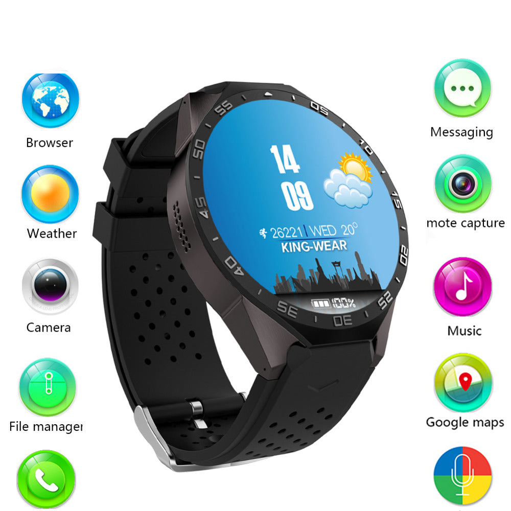 Kingwear KW88 3G WIFI GPS Bluetooth Smart Watch