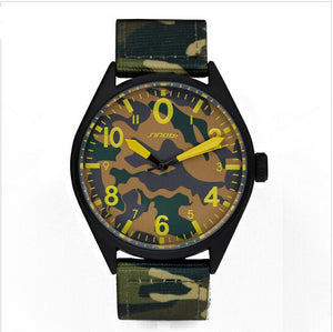 SINOBI luxury brand camouflage nylon air force Army waterproof quartz watch - Peanutbutter's Closet