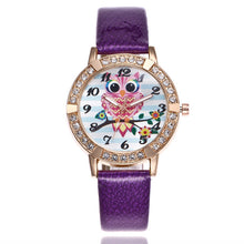 Cute Owl Leather Band Analog Quartz Round Wrist Watch Watch - Peanutbutter's Closet