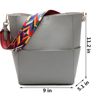 2018 New Luxury Designer Famous Shoulder Leather Gray Crossbody Bag