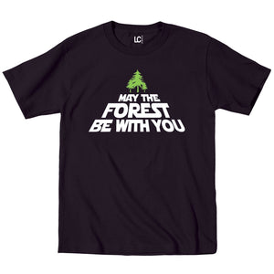 May The Forest Be with You Trees Earth Day Save Go Green Mens T-Shirt Black Man Fashion Round Collar T Shirt Top Tee