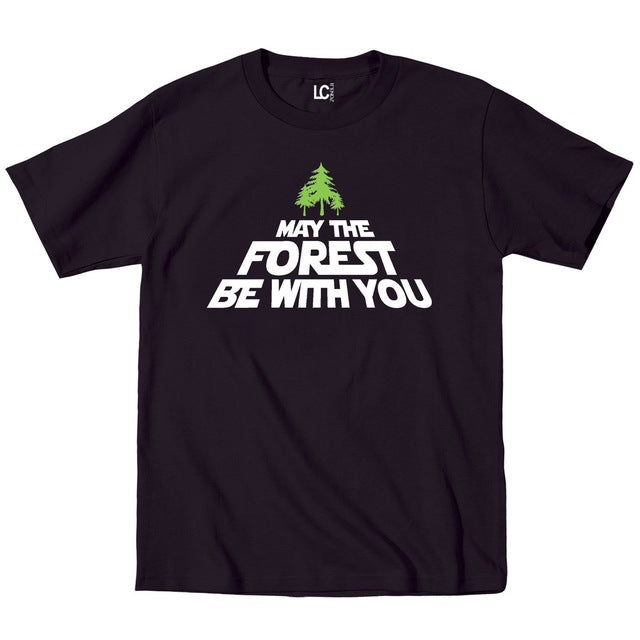 May The Forest Be with You Trees Earth Day Save Go Green Mens T-Shirt Black Man Fashion Round Collar T Shirt Top Tee - Peanutbutter's Closet