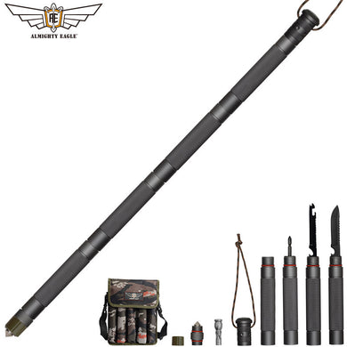 ALMIGHTY EAGLE Outdoor Tactical Stick With Folding Tools Army Stock