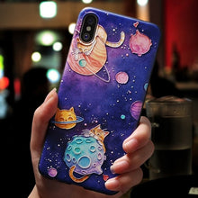 Cute 3D Embossed Cartoon Patterned Phone Case For iphone X 8 7 6 6S
