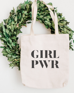Girl Power Cotton Tote Bag