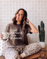 God Blessed This Woman T-Shirt - (White Letters)