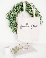 Faith Greater Than Fear - Cotton Tote Bag