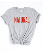 Natural T-Shirt - Heather Grey