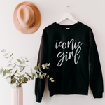 Iconic Girl Unisex Sweatshirt - Black