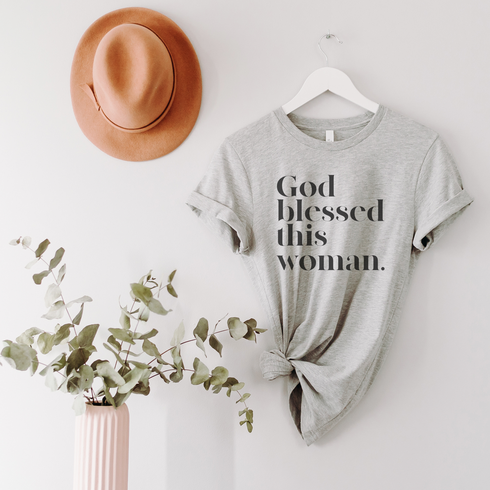 God Blessed This Woman Unisex T-Shirt - Athletic Heather