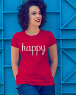 Happy T- Shirt - Red