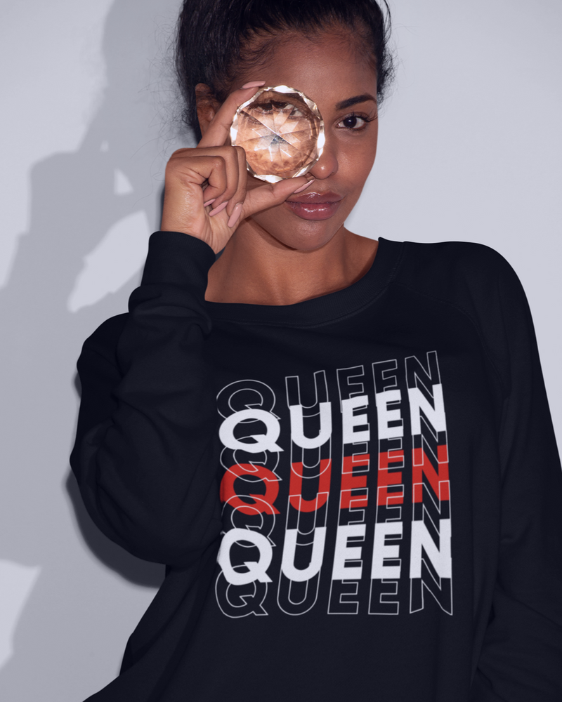 Queen Sweatshirt - Black or Dark Grey