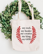 My God Cotton Tote Bag
