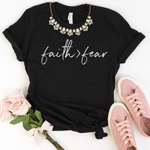 Faith Greater Than Fear T-Shirt - Black