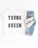 Young Queen Baby Jersey Tee (Black Letters)