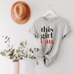 This Girl Can Unisex T-Shirt - Sports Grey