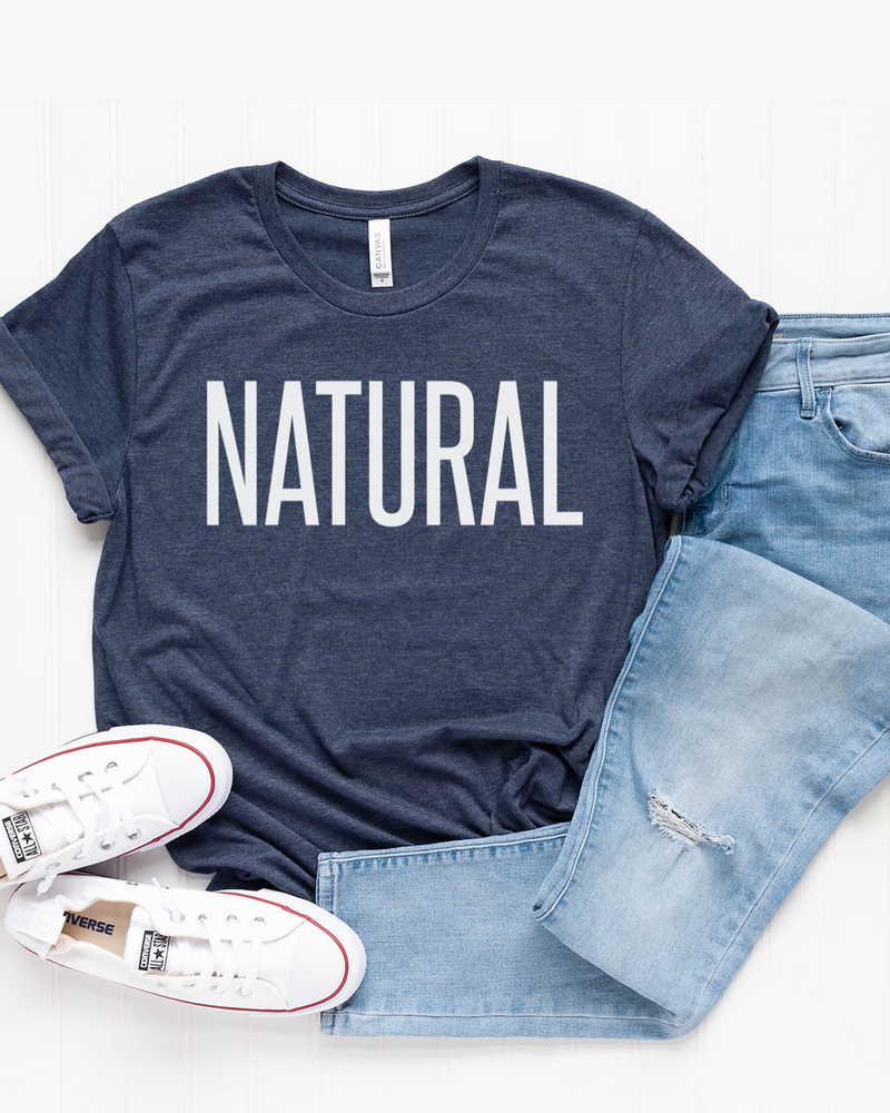 Natural T-Shirt (White Letters) - More Color Options