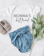 Momma's Best Friend Onesie - White