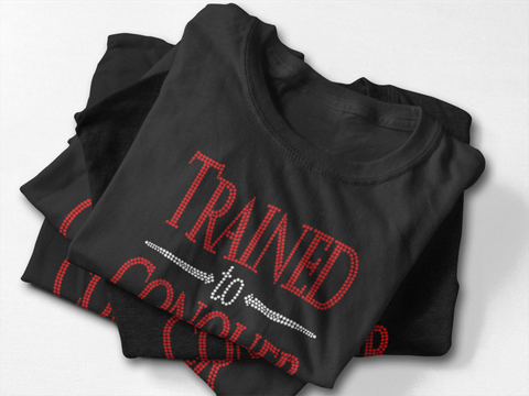 "T-Shirt: ""Bling"" TRAINED TO CONQUER"