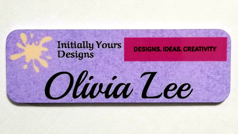 Personalized Plastic Name Tag