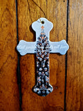 Personalized Cross Cermaic Ornament