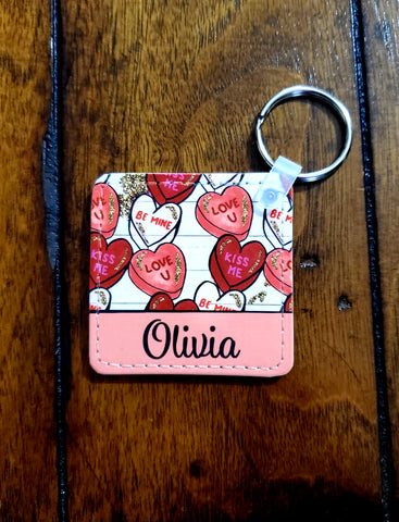 Valentine's Leather Key Chain